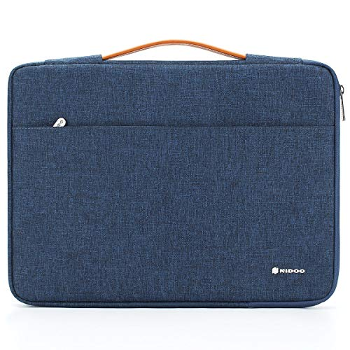 NIDOO 12,5 inch Laptop Sleeve Case Notebook Bag Protective Carrying Handbag Cover for 12.9' iPad Pro 2016 2017/13.3' MacBook Pro/13.5' Surface Laptop 2 3/13.3' ThinkPad X380 Yoga/ThinkPad X390, Blue