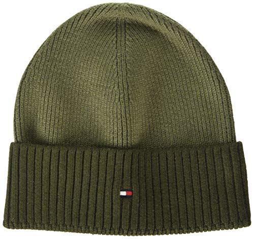 Tommy Hilfiger Herren Pima Cotton Beanie Cb Hut, Camo Green Mix, OS