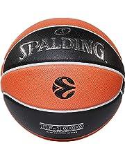 Euroleague Baloncesto Oficial de Carrera TF1000 Spalding, Naranja/Negro, 7