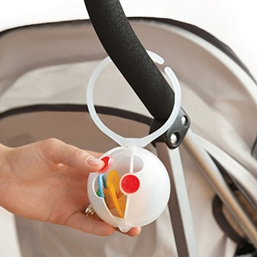 Skip Hop Grab-and-Go Double Egg Pacifier Holder, Multi