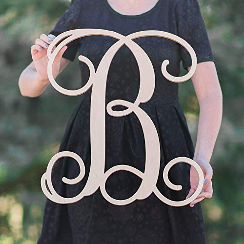SALE 12-36 inch tall Single Letter Wooden Monogram Vine Room Decor Nursery Decor Wooden Monogram Wall Art Large Wood monogram wall hanging wood LARGE