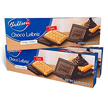 Bahlsen Choco Leibniz Dark Cookies  3 boxes  - Leibniz Butter Biscuits topped with a thick layer of European Chocolate - 4.4 oz boxes