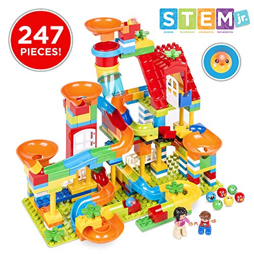 Best Choice Products Kids 247-Piece Building Blocks Marble Run STEM Toy Puzzle Race Track Set w/ Ramps, Slides