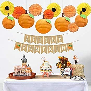 CHRORINE Fall Little Pumpkin Baby Shower Decorations Fall Birthday Party Decorations Girl or Boy 1st Birthday Little Pumpkin Party Decorations