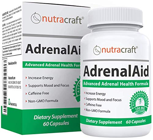 AdrenalAid Adrenal Fatigue Support Supplement | Unique Natural Complex Including Ginseng, Rhodiola & Astragalus to Assist Adrenals and Boost Energy | Non-GMO | 60 Capsules