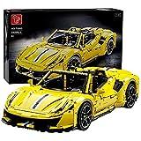 FYHCY Technic Building Blocks Coche de Carreras para Ferrari 488, 3608 Partes 1: 8 Kit de Montaje de Coche Deportivo Bloques de terminales compatibles con Lego Technic