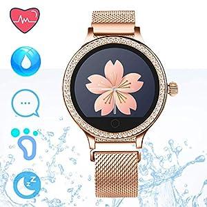 IP68 Fitness Tracker Watch – Smart Watch Bluetooth Podómetro Contador de Pasos Pulsera Inteligente Relojes para Mujeres… 10
