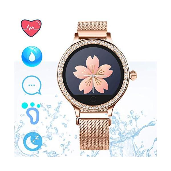 IP68 Fitness Tracker Watch – Smart Watch Bluetooth Podómetro Contador de Pasos Pulsera Inteligente Relojes para Mujeres… 2