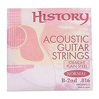 HISTORY HAGSNP016 アコースティックギター弦 B-2nd .016 バラ弦1本 (ヒストリー)