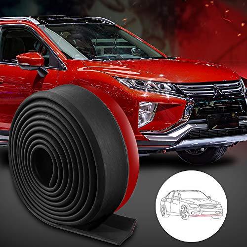Rovtop Spoiler Auto Universale 2.5M Protezione Paraurti Auto Adesivi Auto Tuning Protector Lip Splitter Corpo Spoiler per Auto, Camion, SUV
