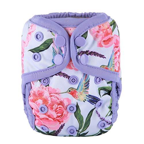 Sigzagor Newborn Baby Diaper Nappy Cover 8lbs-10lbs (Hummingbirds)