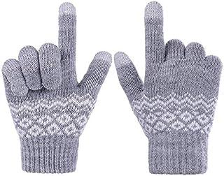 Fingervantar med touchfunktion, Grå/Vit