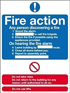 KPCM Display Fire Safety Sign - Fire Action Notice