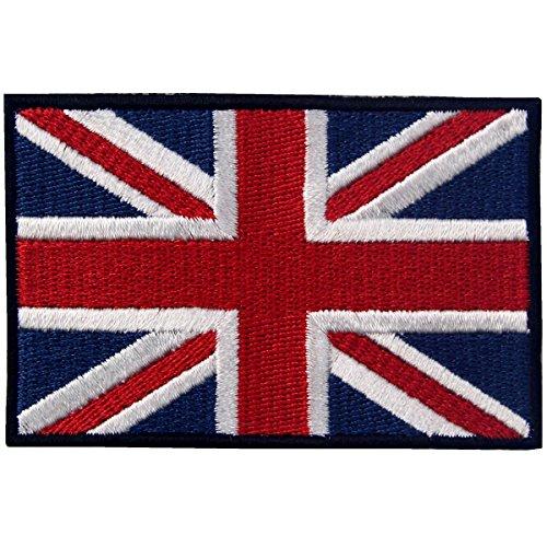 Britische Union Jack England-Flagge Emblem Grossbritannien Bestickter Aufnäher zum Aufbügeln/Annähen