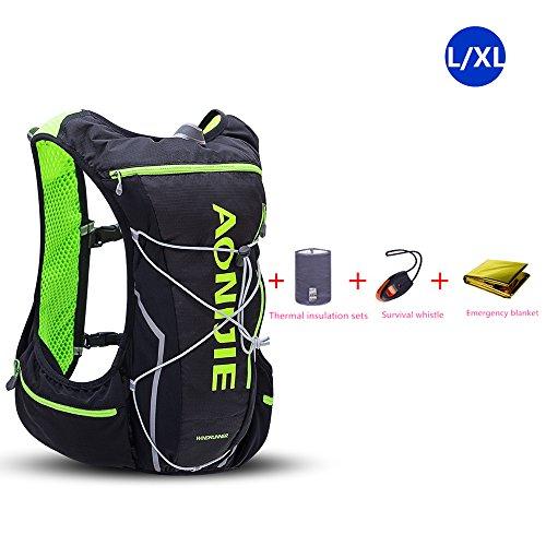 Sac à dos de course/marathon/cyclisme AONIJIE 10 L - Sac de sport léger et imperméable , Black-L/XL