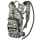 G4Free Hydration Pack Sports Runner Hydration Backpack with Bladder(19.68'x 8.26'x 4.72')(ACU Camouflage)