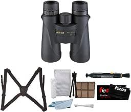Nikon 7577 Monarch 5 10x42 Waterproof/Fogproof Roof Prism Binoculars Bundle Lens Pen & Essential Accessories (5 Items)