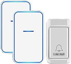 Geen batterijen nodig Draadloze deurbel, waterdichte draadloze plug-in deurbellen met 38 beltonen 3 niveaus volume en flit...