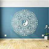 BailongXiao Flor de Yin Yang Tatuajes de Pared Bohemian Wall Stic