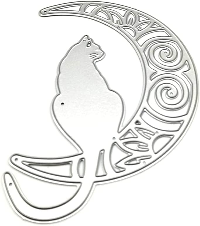 Metal Stencil Template Moulds Cat Max 77% OFF Cutting Stenci Dies At the price Moon