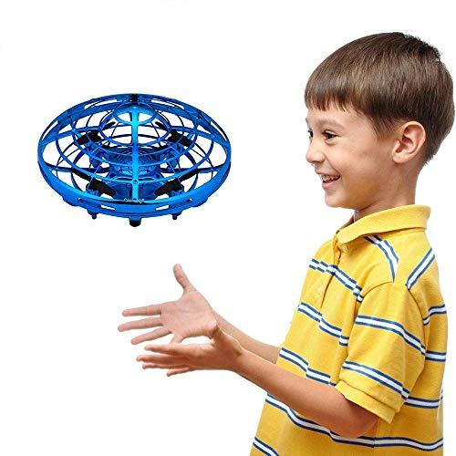 GZMY Giocattoli per Ragazzi di 3-12 Anni, Droni a Sfera Volanti in Elicottero Azionati a Mano per Bambini o Adulti Regali per Ragazzi di 3-12 Anni Ragazze Teen Regalo di Compleanno Blu