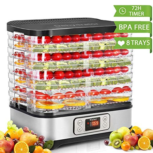 Cheapest Price! Food Dehydrator Machine, Digital Timer and Temperature Control, 8 Trays, for Jerky/M...