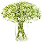Yyhmkb Flores Artificiales Paquete de 16 Flores de Aliento de Plástico Falsas Ramos de Gypsophila de Imitación para Banquete de Boda Decoración de Jardín en Casa Accesorios de Bricolaje Blanco