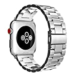 For Apple Watch バンド, Fintie ステンレス 金属ベルト 時計バンド 交換用ベルト アップルウォッチ交換ストラップ iWatch Apple Watch SE/Series 6 / 5 / 4 44mm, Series 3 / Series 2 / Series 1 42mm 対応 (シルバー)
