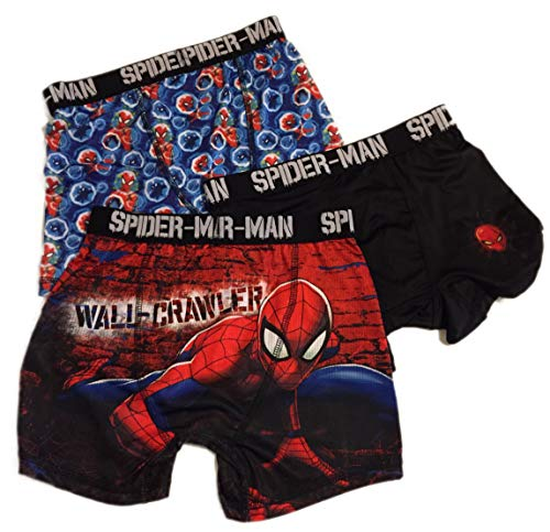 Fashion Marvel Comics Spider-Man Action Underwear 3 Pack Boxer Briefs - Medium