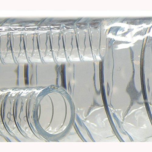 Saugschlauch Spiralschlauch Stahlspirale Abwasserschlauch transparent (Meterware) 25mm