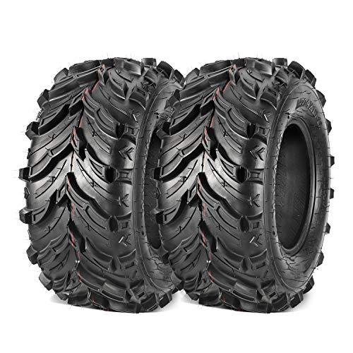 Maxauto 24x10-11 24x10x11 Rear ATV Tire 6 PLY ATV/UTV all-terrain Tires AT Mud Sand Snow Turf Tires Tubeless Pair of 2
