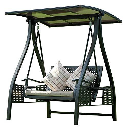 Balancin Jardin Exterior, EnergíA Solar AleacióN De Aluminio Columpio De JardíN para Terraza 183 * 158 * 120cm
