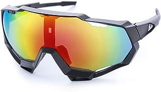 SNAWEN Polarizadas Ciclismo Gafas De Sol, UV400 Anti-Viento Gafas De Sol Polarizadas Deporte De Ciclismo Gafas De Sol Gafas De Sol Deportes Ciclismo Hombres Mujeres,1