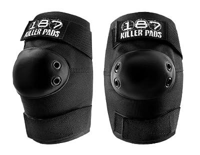 187 Killer Pads Unisex Elbowpads Schutzausrüstung, Schwarz, L, 11.11.EBP.03-04