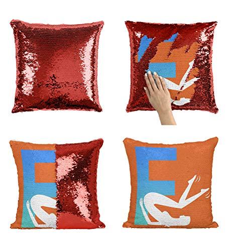 Sex Letter Woman Kamasutra_005928 Sequin Pillow, Funny Pillow, Sequin Reversible Pillow, Kissenbezug Kissen, Décor, Gift for Him Her, Birthday Christmas Halloween, Present (Kissen + Einsatz)