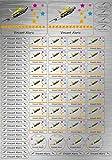 INDIGOS UG® SET A4 - Adhesivo con nombre - aspecto de acero inoxidable - 69 piezas - 110 - Flugzeug - para la escuela, jardín de infancia, cuadernos de ejercicios, libros