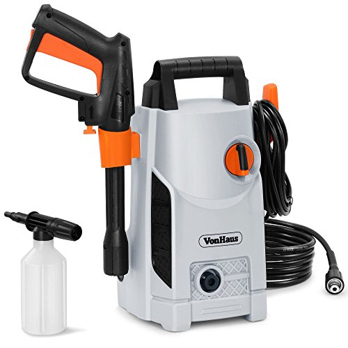 VonHaus 1600W Pressure Washer with Accessories – Outdoor Home/Patio & Car Cleaner - 90bar working...