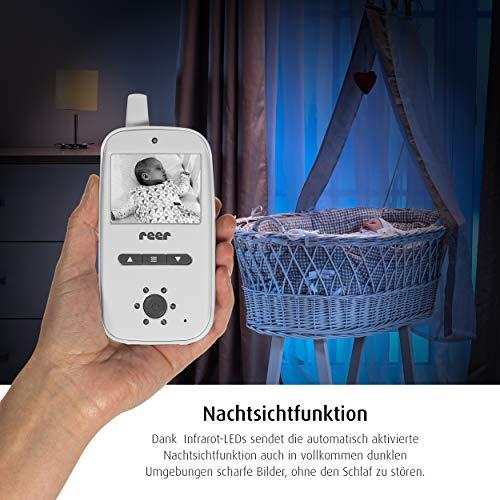 reer 80420 BabyCam Video Babyphone, 300 m Reichweite, 50 Grad Weitwinkel-Kamera, 2,4″ TFT Display, weiß - 4