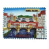 Imán para nevera, diseño de Ponte Vecchio Florencia Italia, decoración del hogar y la cocina, imán magnético para nevera de Florencia, regalo de recuerdo de viaje
