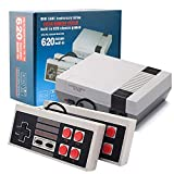 Classic NES Retro Console, 8-bit AV Output Mini Video Game Console Built-in 620 Games with 2 Classic Controllers for Kids, Children Gift