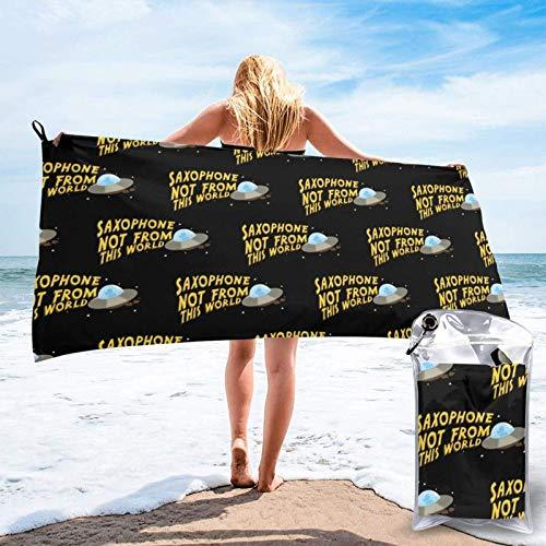XCNGG Toallas de baño Toallas de baño Axophone Not from This World Towel Soft Bathroom Travel...