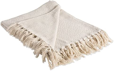 Best DII Rustic Farmhouse Cotton Diamond Blanket Throw with Fringe For Chair, Couch, Picnic, Camping, Bea