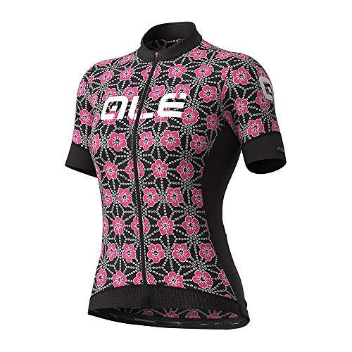 Alé Cycling PR-S Garda Kurzarm Trikot Damen Black/Fluo pink Größe M 2021 Radtrikot kurzärmlig