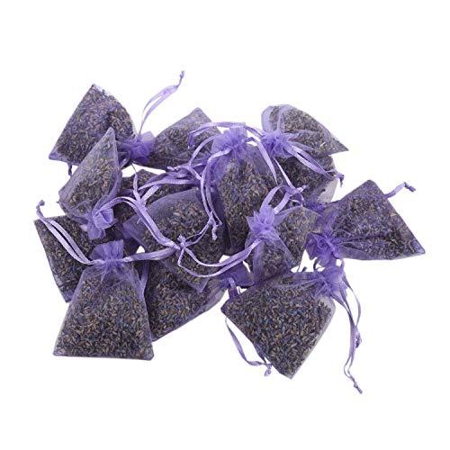 bobotron Paquete de lavanda, 15 paquetes, desodorante natural, bolsa de flores secas, aroma a lavanda