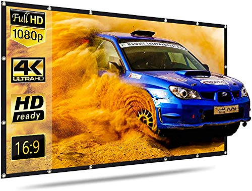Projector Screen,120 inch Portable Projection Screen for Projector,16:9 HD...