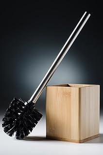 Brosse de toilette haut de gamme bambou   design élégant, chic   à tête remplaçable