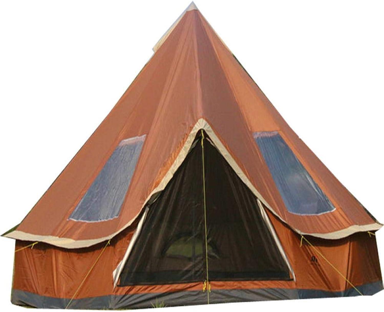 ERJQ Outdoor - Zelt Camping Camping - zelte im Zelt Camping - 8 Menschen das Leben, Das Glück der Burg Orange, 5 bis 8 Personen