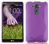 Cadorabo Funda para LG G3 Mini/ G3-S de Silicona TPU Flexible en diseño de S-Line de Color Lila