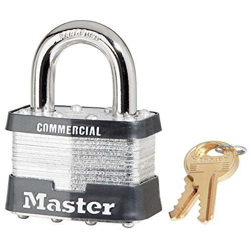 24 Pack Master Lock 5KA-A383 2' Wide Keyed Alike Commercial Grade Laminated Padlock with 1' Shackle Height - Keyed to A383 Key Code