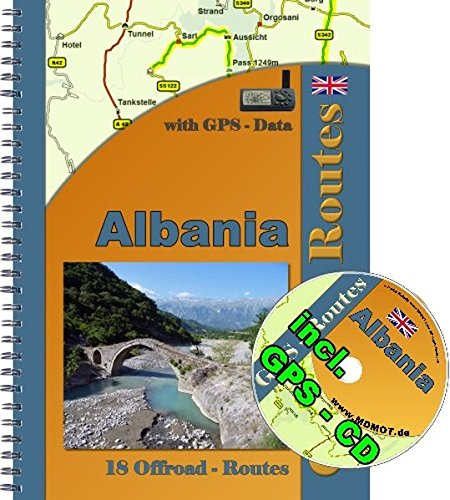 18 Offroad Routes Albania Tourguide with GPS CD